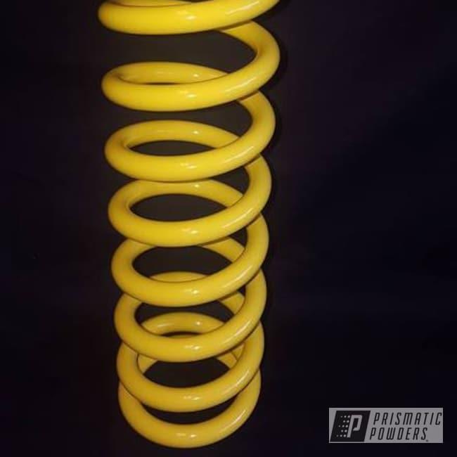 Powder Coating: Single Powder Application,Rear Shock,RAL 1018 ZincYellow,Motorcycles,Solid Tone,Motorcycle Spring