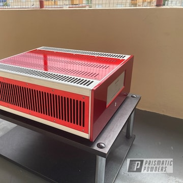 Powder Coated Power Amp In Pss-10300 And Ppb-6415