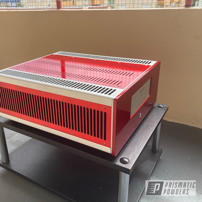 Powder Coating: Power Amplifier,Amplifier,Power Amp,SUPER CHROME II PSS-10300,Rancher Red PPB-6415