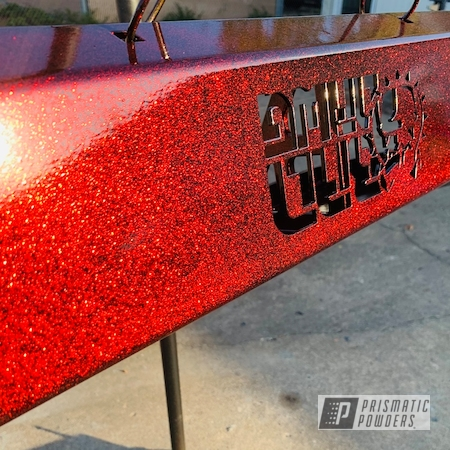 Powder Coating: LOLLYPOP RED UPS-1506,side by side,GLOSS BLACK USS-2603,SUPER CHROME II PSS-10300,RZR Bumpers,RZR Suspension,ATV Parts,RZR,Super Red Sparkle PPB-4694