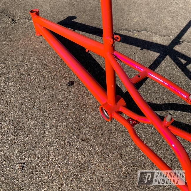 Powder Coating: BMX Frame,SUPER CHROME II PSS-10300,Haro,Freestyle,BMX Freestyle,BMX,Corkey Pink PPS-5875
