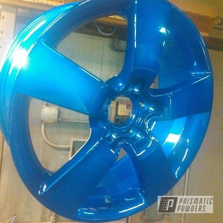 "Powder Coating: Wheels,Cheater Blue PPB-6815,Rims,17"" Aluminum Rims,SUPER CHROME II PSS-10300"