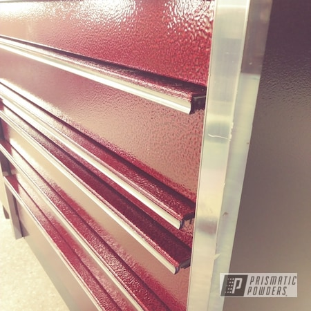 Powder Coating: LOLLYPOP RED UPS-1506,tool box,Snap-On,Silver Artery PVS-3014