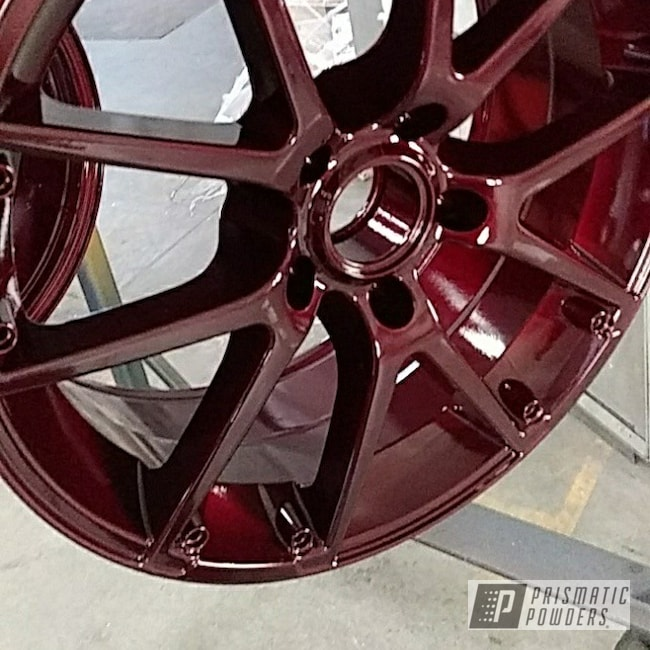 Powder Coating: Wheels,Clear Vision PPS-2974,Rims,Illusion Cherry PMB-6905
