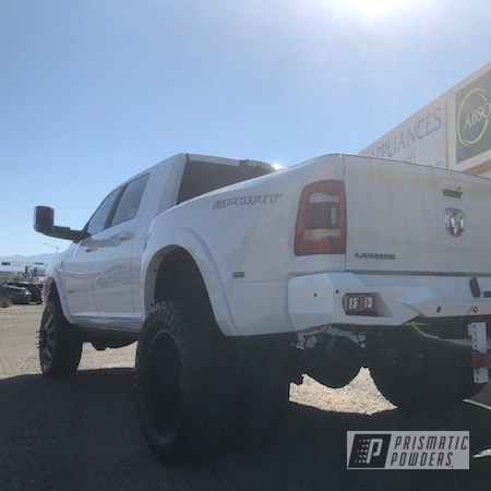 Powder Coating: Passion Red PSS-4783,Truck,custom bumper,Dodge Ram,Bumpers,Polar White PSS-5053