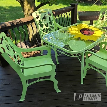 Powder Coated Outdoor Furniture In Pss-2600, Psb-6605 And Psb-4974