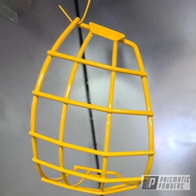 Powder Coated Hockey Helmet Cage In Ral 1033