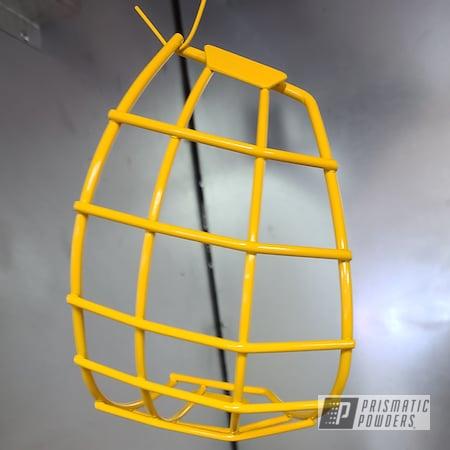 Powder Coating: Accessories,Hockey Cage helmet,Hockey,RAL 1033 Dahlia Yellow,Hockey Cage,Miscellaneous,Hockey Helmet