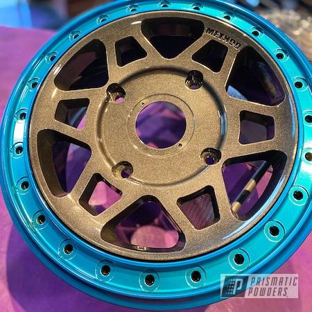 Powder Coating: Wheels,Method Wheels,Polaris Wheels,Method,SUPER CHROME II PSS-10300,Two Tone Wheels,RZR,Crystal Grey PMB-5913,Method Race Wheels,UTV Wheels,Rims,UTV,Polaris,Hawaii Blue PPS-4483,Two Tone