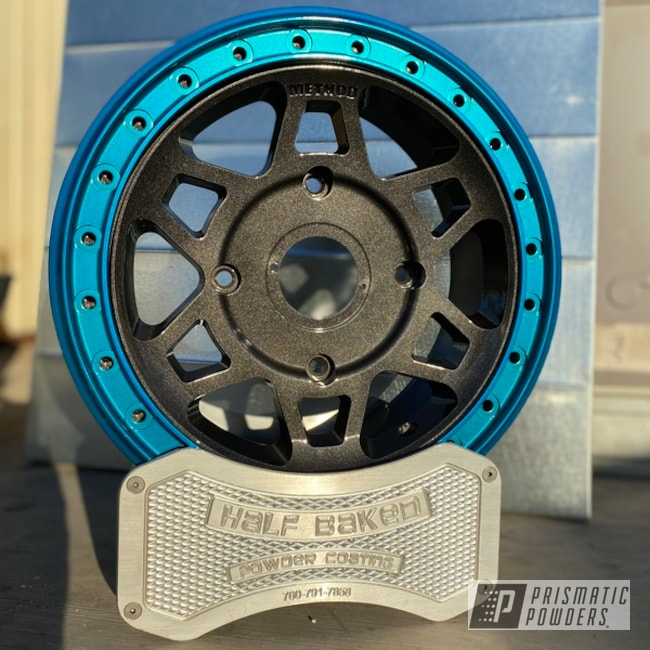 Powder Coating: Wheels,Method Wheels,Polaris Wheels,Method,SUPER CHROME II PSS-10300,Two Tone Wheels,RZR,Crystal Grey PMB-5913,Method Race Wheels,UTV Wheels,Rims,UTV,Polaris,Hawaii Blue PPS-4483,Two Tone