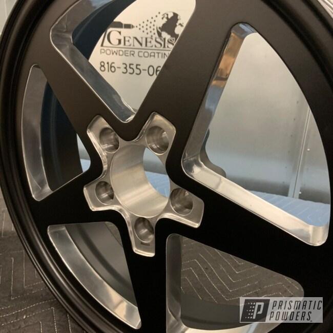 """Powder Coating: Stone Black PSS-1168,2 Tone,20"""" Wheels,Genesis Powder Coating,Aluminum,Racing Wheels,Aluminum Wheels"""
