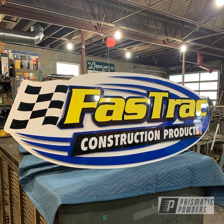 Powder Coating: Can-am Yellow '18 PSB-10072,Ink Black PSS-0106,Bubba PSS-3042,Genesis Powder Coating,Custom Signs,Art,Sign,Snowcone White PSS-4369
