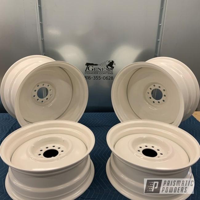 "Powder Coating: Steelies,20"" Wheels,Steel Wheels,Genesis Powder Coating,Custom Powder Coating,Off White II PSB-2543,Detroit Steel"