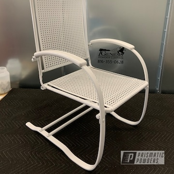 Powder Coated Antique Patio Rocker In Pss-4369