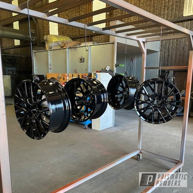 "Powder Coating: Wheels,20"" Wheels,GLOSS BLACK USS-2603"