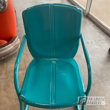 Powder Coating: Vintage Lawn Chairs,chair,Dunbar Teal PSS-0950