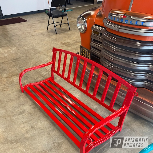 Powder Coating: Glider,chair,Astatic Red PSS-1738,Glider Chair