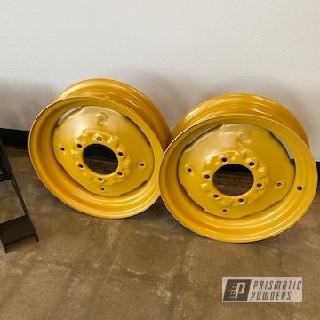 Powder Coated Steel Wheels In Pss-2550
