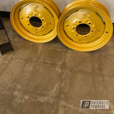 Powder Coating: Caterpillar Yellow II PSS-2550,Wheels,Steel Wheels