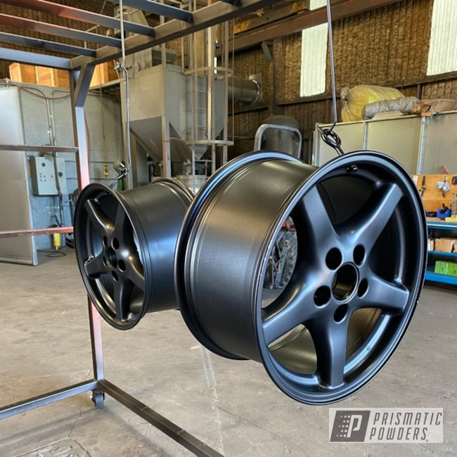 "Powder Coating: Wheels,Matte Black PSS-4455,Rims,18"" Aluminum Rims"