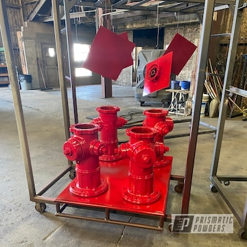Powder Coated Fire Hydrants In Pss-4971