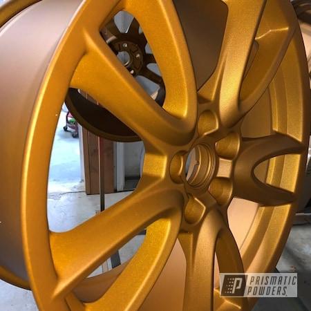 "Powder Coating: Wheels,Illusion Spanish Fly PMB-6920,Rims,19"" Aluminum Rims,Casper Clear PPS-4005,Illusions"