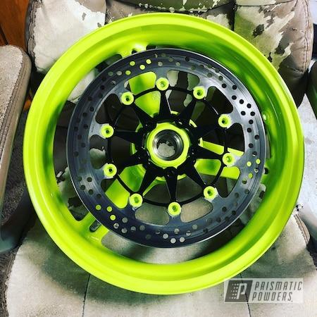 Powder Coating: Wheels,Alloy Wheels,Chartreuse Sherbert PSS-7068