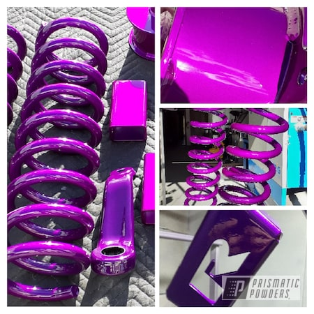 Powder Coating: Automotive,Clear Vision PPS-2974,Lift Kit,Illusion Violet PSS-4514