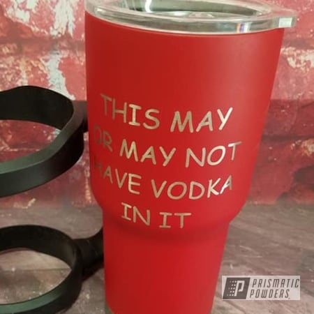 Powder Coating: Tumbler Cup,Drinkware,HOGG,Stainless Tumbler,Burnt Red Texture PTS-6422,Custom Tumbler