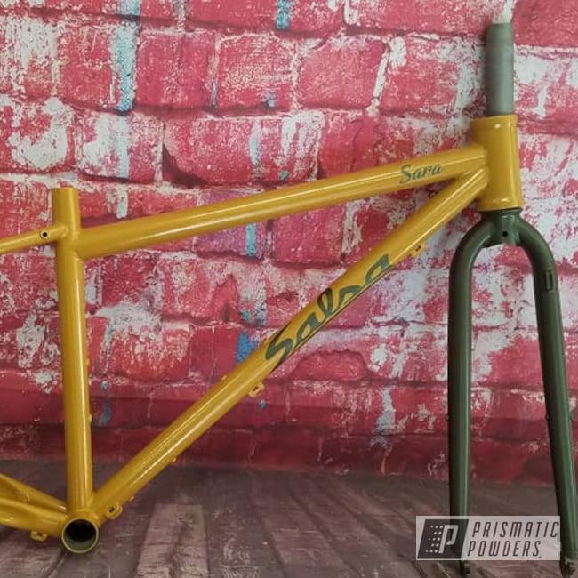 Powder Coating: Mustard Nugget PMB-6881,Two Tone,Bicycle,Bicycle Frame,Dana Sage PMB-6350