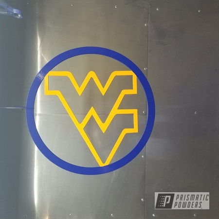 Powder Coating: Southwest Blue PSS-0845,WV,School Bus Yellow PSS-4334,Steel,Metal Sign