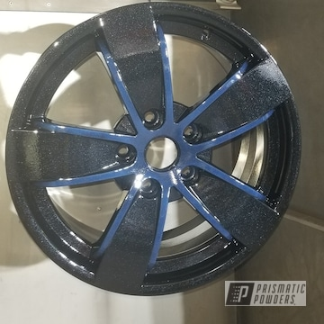 Powder Coated Two-tone Rims In Pmb-5347 And Pcb-1110