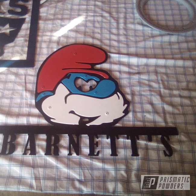 Powder Coating: Stone Black PSS-1168,Oh So Blue PSS-2965,Smurf,Very Red PSS-4971,Gloss White PSS-5690,Custom Sign