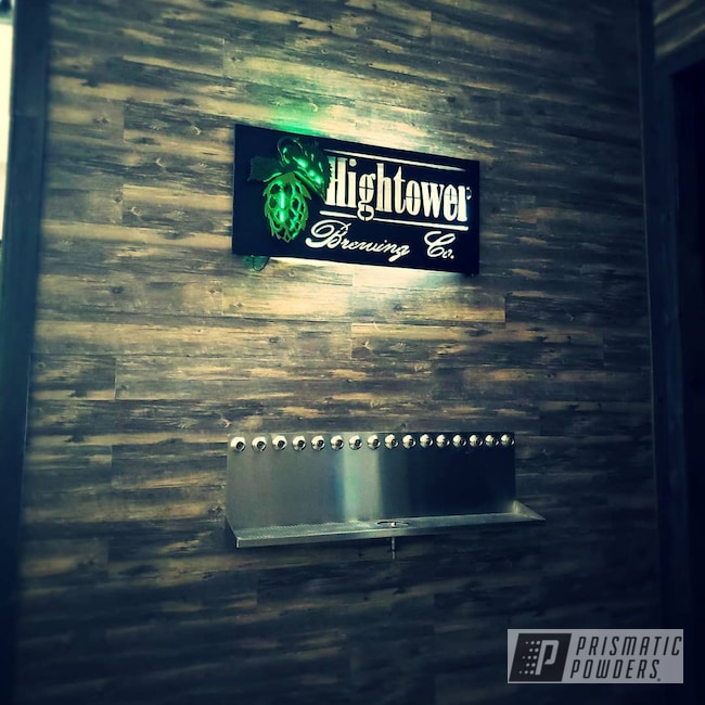 Powder Coating: RAL 6025 Fern Green,Stone Black PSS-1168,Custom Business Sign,Custom Sign,Rifle Green PSB-6876