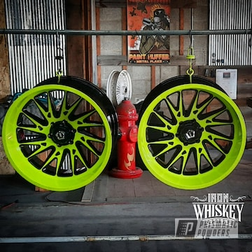 Powder Coated Two Tone Wheels In Pps-2974, Pss-7068 And Pss-0106