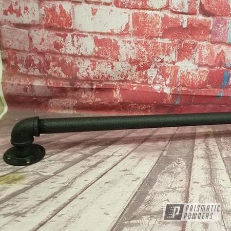 Powder Coating: Splatter Black PWS-4344,Hand Railing,Splatter Black,iron Handrail,Pipe Rail