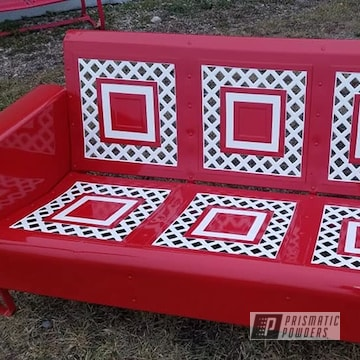 Powder Coated Outdoor Bench In Pss-5690 And Ral 3002
