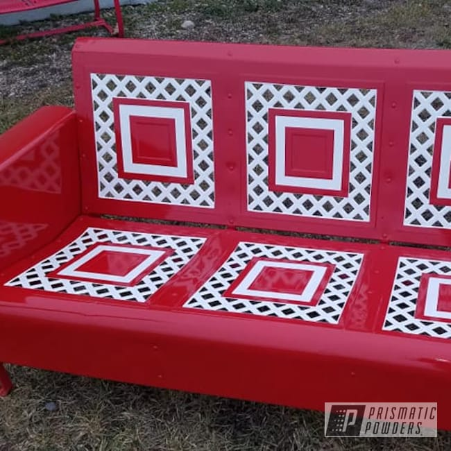 Powder Coating: Multi Color Application,2 Color Application,3 Person Glider,Outdoor Bench,Gloss White PSS-5690,RAL 3002 Carmine Red,Vintage Glider,Outdoor Patio Furniture