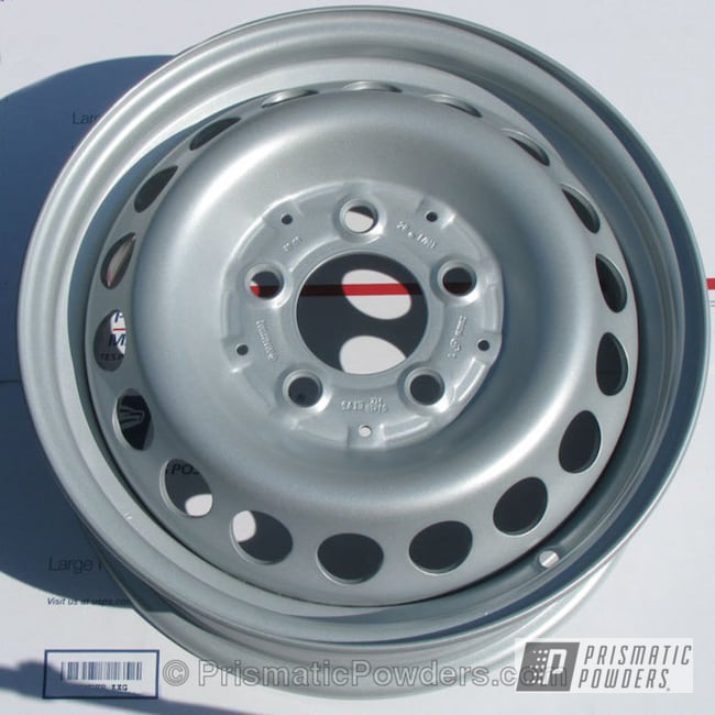Powder Coating: Wheels,Custom,Silver Thaw PMB-2139,powder coating,Silver wheels,powder coated,Prismatic Powders
