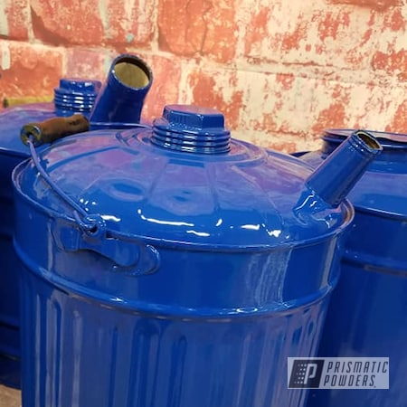 Powder Coating: RAL 5010 Gentian Blue,Gas Cans,Vintage Cans,Vintage,Vintage Gas Cans,Tin Cans