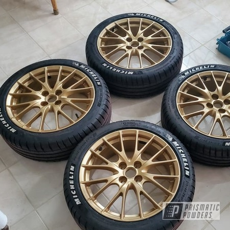 "Powder Coating: Wheels,Rims,17"" Aluminum Rims,Mazda,Mazda mx5,Satin Poly Gold PMB-6487,Mazda Wheels,BBS,Gold,MX-5"