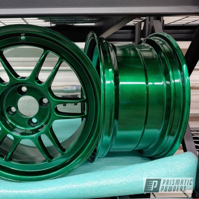 Powder Coated Wheels In Pps-2974 And Pmb-5346