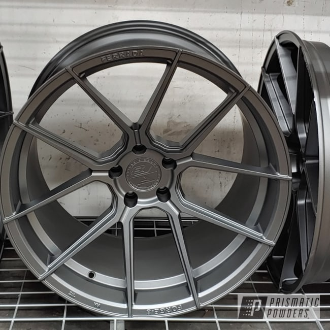 "Powder Coating: Wheels,GTR,FORGED CHARCOAL UMB-6578,Alloy Wheels,Nissan,20"" Wheels,Rims,Skyline,Ferrada Wheels,Nismo"