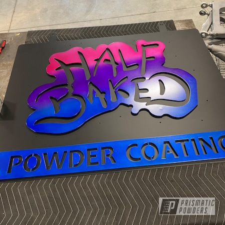 Powder Coating: Illusion Purple PSB-4629,Metal Art,Silver Sparkle PPB-4727,BLACK JACK USS-1522,Illusion Pink PMB-10046,Signs,Illusion Blueberry PMB-6908,Metal,Steel,Custom Sign,Metal Signs,Metal Sign