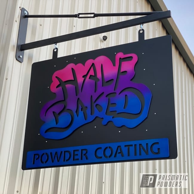 Powder Coating: Illusion Purple PSB-4629,Metal Art,Silver Sparkle PPB-4727,BLACK JACK USS-1522,Illusion Pink PMB-10046,Signs,Illusion Blueberry PMB-6908,Metal,Steel,Custom Sign,Metal Signs,Metal Sign