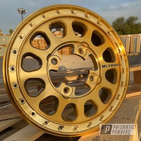 Powder Coating: Wheels,Method Wheels,Rims,UTV,side by side,Method,Transparent Gold PPS-5139