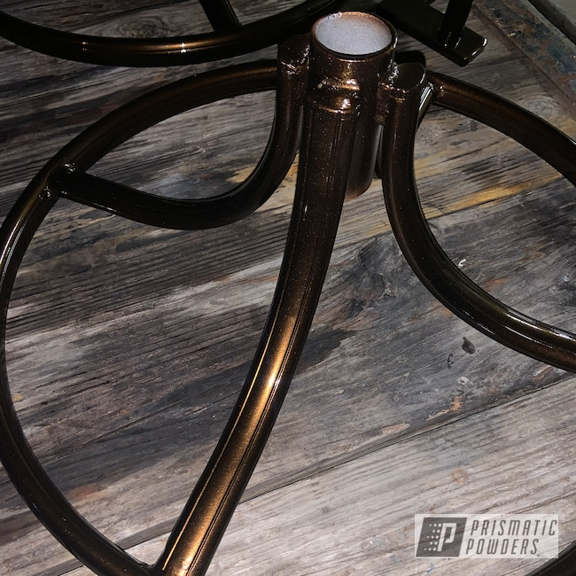 Powder Coating: Clear Vision PPS-2974,Patio Furniture,2 Stage Application,Patio Set,Super Rootbeer PMB-6335,Tables