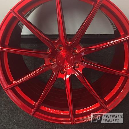 "Powder Coating: DAZZLING RED UPB-1453,Wheels,20"" Wheels"