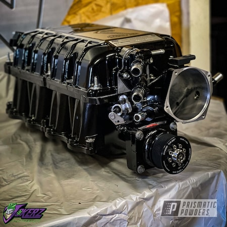 Powder Coating: Automotive,Ford Supercharger,Ink Black PSS-0106,gt500,Car Parts,Ford,Mustang,Supercharger