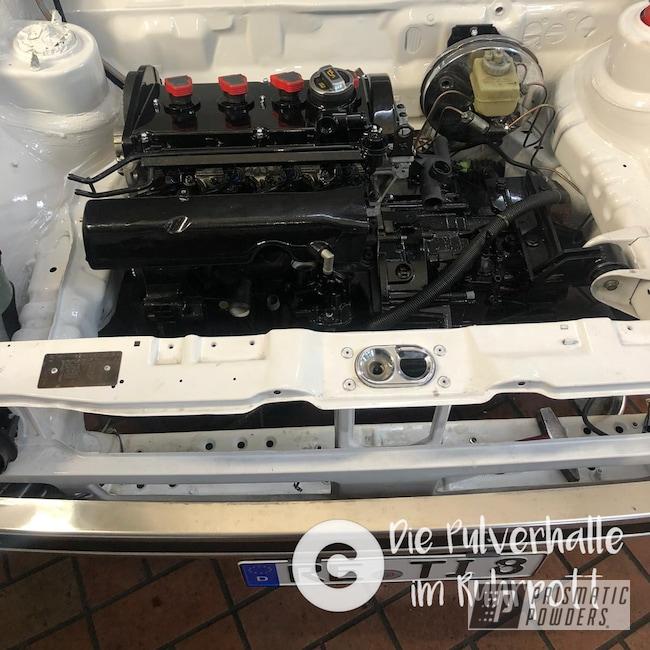 Powder Coating: Automotive,Clear Vision PPS-2974,Engine,Ink Black PSS-0106,Golf 1,motor,VW